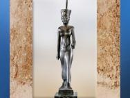 D'après la déesse ancestrale Neith, statuette en bronze incrusté d'or, vers 663 - 332 avjc, Basse-Époque, Égypte Ancienne. (Marsailly/Blogostelle)