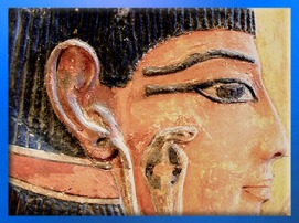 D'après la déesse Hathor, détail du cobra, calcaire peint, tombe de Séthi Ier, XIXe dynastie, Vallée des Rois, Nouvel Empire, Égypte Ancienne. (Marsailly/Blogostelle)