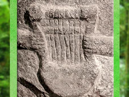 D'après une lyre gauloise, statuette, Côtes-d'Armor, France, Ier siècle avjc, Gaule celtique. (Marsailly/Blogostelle)