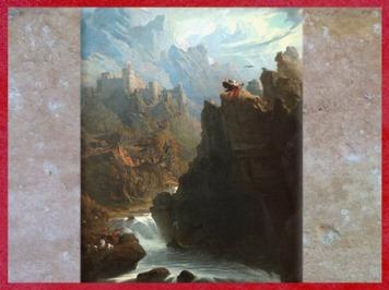 D'après Le Barde, détail de John Martin, XIXe siècle. (Marsailly/Blogostelle)
