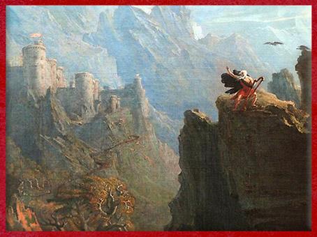 D'après Le Barde, de John Martin, XIXe siècle. (Marsailly/Blogostelle)