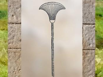 D'après le motif égyptien de la fleur de papyrus, Égypte Ancienne. (Marsailly/Blogostelle)