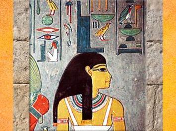 D'après la déesse Isis, tombe de Horemheb, XVIIIe dynastie, Thèbes, Nouvel Empire. Égypte Ancienne. (Marsailly/Blogostelle)