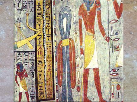 D'après le nœud d'Isis, tombe de Ramsès Ier, XIXe dynastie, Vallée de rois, Nouvel Empire, Égypte Ancienne. (Marsailly/Blogostelle)