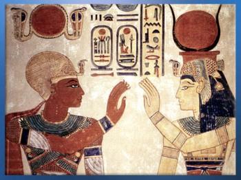 D'après la déesse Isis, tombe du prince Amonherkhepshef, fils de Ramsès III, Vallée des Reines, XXe dynastie, Nouvel Empire, Égypte Ancienne. (Marsailly/Blogostelle)