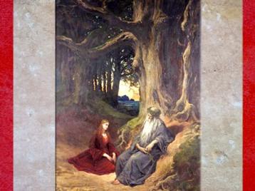 D'après Viviane et Merlin, huile sur toile, vers 1867 apjc, musée du monastère royal de Brou, XIXe siècle. (Marsailly/Blogostelle)