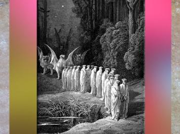 D'après un cortège de druides dans la forêt, illustration de Gustave Doré, XIXe siècle. (Marsailly/Blogostelle)