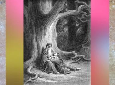 D'après le druide Merlin et Viviane, Gustave Doré, XIXe siècle. (Marsailly/Blogostelle)
