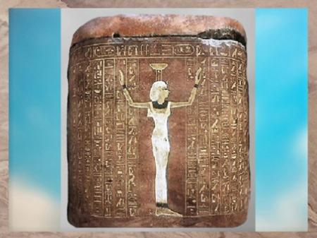 D'après Nephtys et sa coiffe en forme d'autel, tombe de Thoutmôsis IV, XVIIIe dynastie, vallée des Rois, tombe de Thoutmôsis IV, vallée des Rois, Thèbes, Égypte XVIIIe dynastie, Nouvel Empire. (Marsailly/Blogostelle)