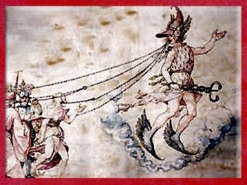 D'après Ogmios, inventeur mythique de l'écriture oghamique, dieu guerrier et dieu magicien. (Marsailly/Blogostelle)