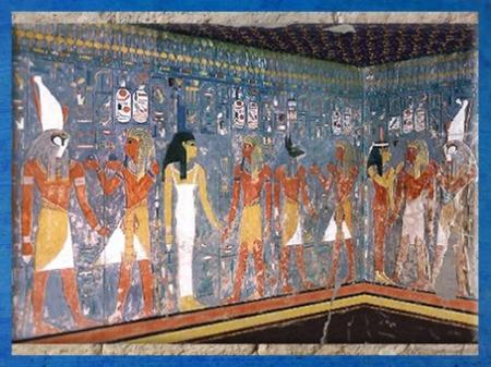 D'après la déesse Isis, tombe de Horemheb, XVIIIe dynastie, Thèbes, Nouvel Empire, Égypte Ancienne. (Marsailly/Blogostelle)