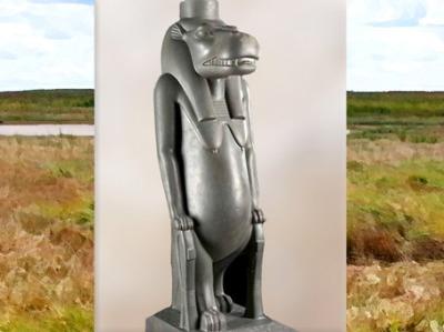 D'après Taouret-Thouéris et nœuds d'Isis, grauwacke poli, vers 663 -525 avjc, XVIe dynastie, Basse Époque, Égypte Ancienne. (Marsailly/Blogostelle)