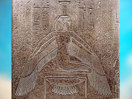 D'après la déesse Nephtys ailée, sarcophage de Ramsès III, vers 1190 avjc, Vallée des Rois, Thèbes, XXe dynastie, Nouvel Empire, Égypte Ancienne. (Marsailly/Blogostelle)