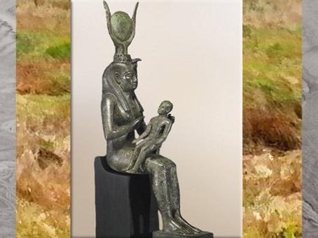 D'après la déesse Isis et Horus, Égypte Ancienne  (Marsailly