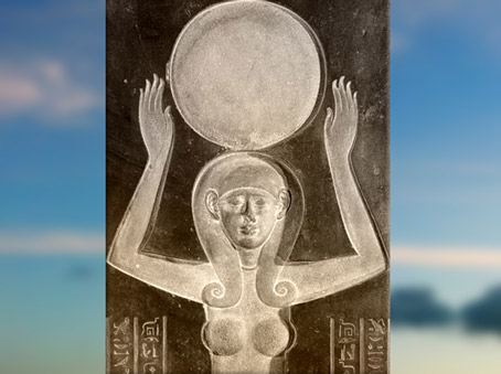 D'après la déesse Nout, sarcophage du prêtre Djedhor, diorite, IVe siècle avjc, Sakkara, Époque Ptolémaïque, Égypte ancienne. (Marsailly/Blogostelle)