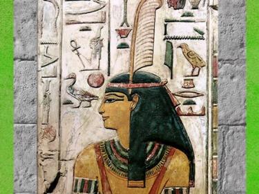 D'après la déesse Maât et sa plume, tombe de Séthi I, XIXe dynastie, Vallée des Rois, Nouvel Empire, Égypte Ancienne. (Marsailly/Blogostelle)