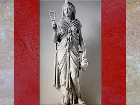 D'après la déesse Isis et son sistre, grande statue de marbre, règne d'Hadrien, vers 117-138 apjc, époque Romaine. (Marsailly/Blogostelle)