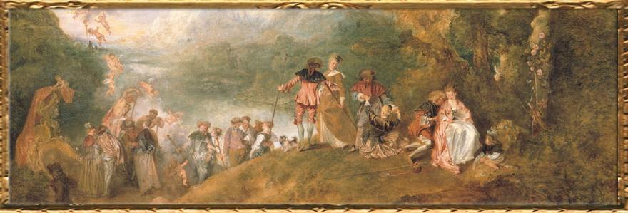 D'après Cythère, ouverture, Antoine Watteau. (Marsailly/Blogostelle)