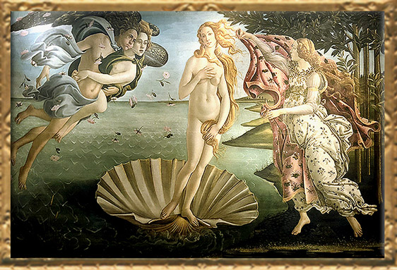 D'après La Naissance de Vénus, Sandro Botticelli, 1484, Florence, XVe siècle, Renaissance italienne. (Marsailly/Blogostelle)