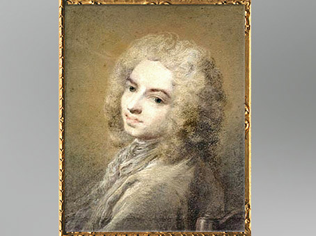 D'après le portrait d'Antoine Watteau dit à la chaise, pastel de l'artiste vénitienne Rosalba Carriera, vers 1720, XVIIIe siècle apjc. (Marsailly/Blogostelle)