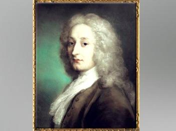 D'après le portrait du peintre Antoine Watteau, de Rosalba Carriera, pastel 1721, XVIIIe siècle apjc, Trévise. (Marsailly/Blogostelle)