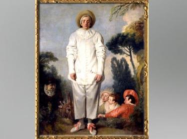 D'après Pierrot, dit autrefois Gilles, Antoine Watteau, huile sur toile, vers 1718 - 1719, XVIIIe siècle apjc. (Marsailly/Blogostelle)