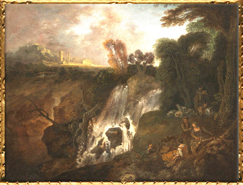 D'après La Chute d'eau, Antoine Watteau, avant 1715, XVIIIe siècle, période Rocaille. (Marsailly/Blogostelle)