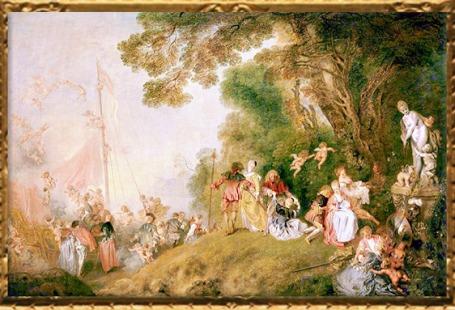 D'après Embarquement pour Cythère, répétition réalisée par Antoine Watteau, 1718-1719, château de Charlottenburg, XVIIIe siècle apjc. (Marsailly/Blogostelle)