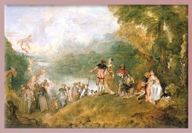 D'après Watteau, Cythère, sommaire. (Marsailly/Blogostelle)