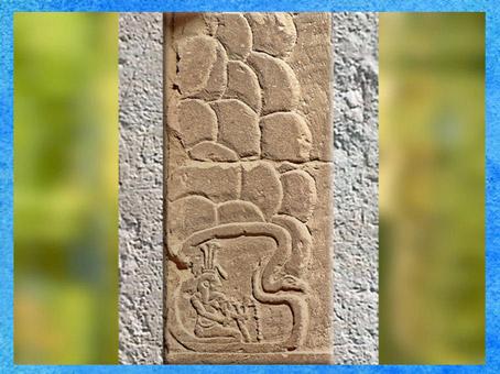 D'après le dieu Hâpy, caverne mythique des sources du Nil, temple d'Isis, Philae, région d'Assouan, XXXe dynastie-époque romaine, Égypte Ancienne. (Marsailly/Blogostelle)