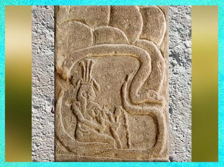 D'après le dieu Hâpy, grotte mythique des sources du Nil, temple d'Isis, Philae, région d'Assouan, XXXe dynastie-époque romaine, Égypte Ancienne. (Marsailly/Blogostelle)