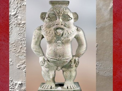 D'après le dieu Bès, terre cuite, époque ptolémaïque, Héracléion (antique Thonis), fouilles sous-marines, Alexandrie, Égypte ancienne. (Marsailly/Blogostelle)