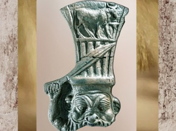 D'après le dieu Bès armé, satuette, terre cuite, Héracléion, fouilles sous-marines, Époque Ptolémaïque,Égypte ancienne. (Marsailly/Blogostelle)
