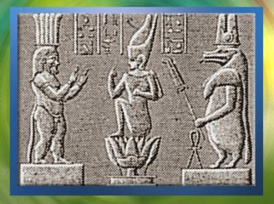 D'après le duo Bès et Thouéris, qui protège la naissance du jeune roi, frise sculptée, Dendérah, Époque Ptolémaïque, Égypte Ancienne. (Marsailly/Blogostelle)