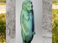 D'après la déesse Taouret-Thouéris, à tête de lionne, figurine, faïence, vers IVe siècle avjc-30 avjc,Basse Époque, Égypte ancienne. (Marsailly/Blogostelle)