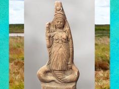 D'après la déesse Isis-Thermouthis, terre cuite, Ier siècle avjc-Ier apjc, période gréco-romaine, Égypte Ancienne. (Marsailly/Blogostelle)