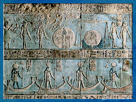 D'après le signe La Balance, salle hypostyle de Dendéra, vers 50 avjc, temple d'Hathor, époque Ptolémaïque, Égypte Ancienne. (Marsailly/Blogostelle)