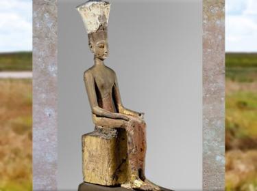 D'après Anouket-Anoukis, divinité de la première cataracte du Nil, bois peint, vers 1250 avjc, XIXe dynastie, Nouvel Empire, Égypte Ancienne. (Marsailly/Blogostelle)