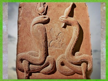 D'après Isis-Thermouthis et Osiris-Agathodémon, stèle, terre cuite, Ier avjc -IVe siècle apjc, époque gréco-romaine, Égypte ancienne. (Marsailly/Blogostelle)