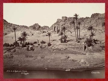 D'après les ruines de l'île de Biggeh, tombeau mythique d'Osiris, document photographique, région d'Assouan, en Haute-Égypte, Égypte Ancienne. (Marsailly/Blogostelle)