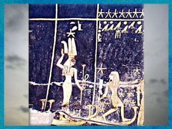 D'après la déesse Sothis-Sopdet-Isis, accompagné d'une étoile, tombe de Sethi Ier, détail du plafond, vers 1300 avjc, Thèbes, Vallée des Rois, XIXe dynastie, Nouvel Empire, Égypte Ancienne. (Marsailly/Blogostelle)