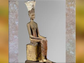 D'après la déesse Anouket-Anoukis, détail, bois peint, vers 1250 avjc, XIXe dynastie, Nouvel Empire, Égypte Ancienne. (Marsailly/Blogostelle)