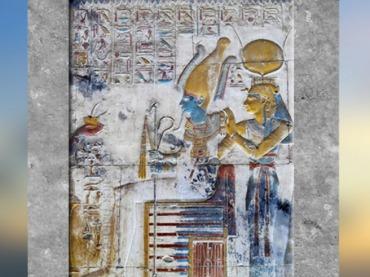 D'après le couple Osiris et Isis, offrande d'encens, chapelle d'Osiris, temple funéraire de Séthi Ier, Abydos, Nouvel Empire, Égypte ancienne. (Marsailly/Blogostelle)