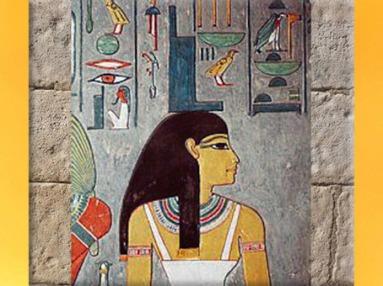 D'après la déesse Isis, incarnation du trône, tombe de Horemheb, XVIIIe dynastie, Thèbes, Nouvel Empire, Égypte ancienne. (Marsailly/Blogostelle)