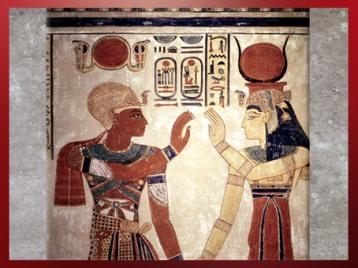 D'après la déesse Isis, couronnée de la coiffe vautour d'Hathor, tombe du prince Amonherkhepshef, fils de Ramsès III, Vallée des Reines, XXe dynastie, Nouvel Empire, Égypte ancienne. (Marsailly/Blogostelle)