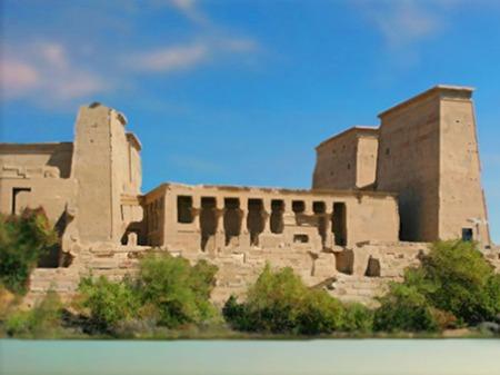 D'après le temple de Philae consacré à la déesse Isis, XXXe dynastie-époque romaine, île d'Aguilkia, Assouan, Égypte Ancienne. (Marsailly/Blogostelle)