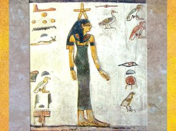 D'après la déesse Sothis-Sopdet-Isis et étoile, relief peint, tombe de Sethi 1er, vers 1300 avjc, Thèbes, Vallée des Rois, XIXe dynastie, Nouvel Empire, Égypte Ancienne. (Marsailly/Blogostelle)