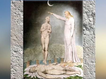 D'après la création d'Ève, William Blake 1807 apjc, XIXe siècle. (Marsailly/Blogostelle)
