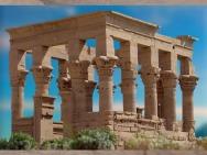 D'après le kiosque de Trajan, Philae, époque romaine, Aguilkia, Assouan, Égypte Ancienne. (Marsailly/Blogostelle)