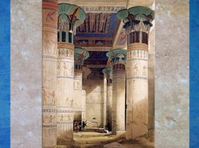 D'après le temple de la déesse Isis, Philae, illustration de David Roberts, XIXe siècle, Égypte Ancienne. (Marsailly/Blogostelle)